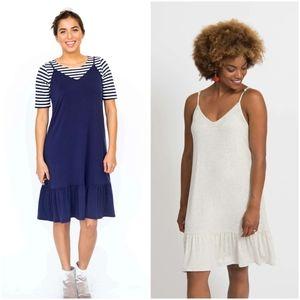 Agnes & Dora Navy Slip Dress